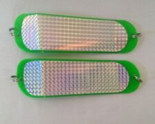 Speargun Spearfishing Swivelled Holographic Teaser / Flasher 22cm 2 pieces