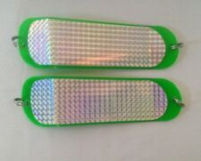 Spearfishing Swivelled Holographic Perspex Teaser / Flasher 22cm 2 pieces