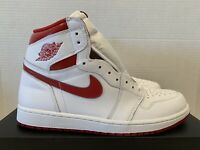 Nike Air Jordan 1 Retro High OG 10.5 DS 555088-103 White Red Metallic 2017 SB I