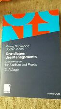 Grundlagen des Managements. Schreyögg/Koch. 2. Auflage. Basiswissen.