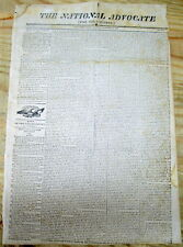 <1815 WAR OF 1812 newspaper BRITISH CAPTURE US FRIGATE PRESIDENT Naval Warfare