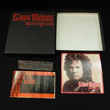 "Gary Moore Ready for Love 3"" CD box + Metal Logo Pin Badge Excellent Thin Lizzy"