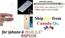 """iphone 6 PLUS 6SPlus 5.5"""" ULTRA Crystal Clear case Cover transparent Soft TPU"""