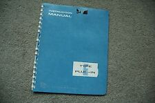 Tektronix TYPE E  Plug in Service Manual all Schematic, Parts: 070-226