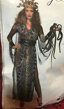 Medusa Adult Women Costume Gold Catsuit Greek Fancy Dress Halloween Leg Avenue