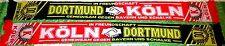 Dortmund Schal Motiv 8 Freundschaft Köln + neu +100 % Acryl+  Fan Ultra Kurve