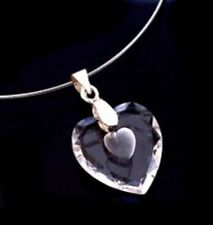 CHARMANT COLLIER COEUR CRISTAL TAILLE