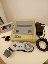 Super Nintendo snes console + Super Mario world game tested fully working