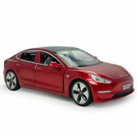 1:32 Tesla Model 3 Die Cast Modellauto Auto Spielzeug Kind Sammlung Rot Geschenk