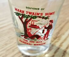 Vintage 1940's Mark Twain's Home-Shot Glass-Early Rare Edition