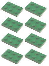 Missing Lego Brick 3021 Green x 8 Plate 2 x 3