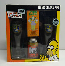 THE SIMPSONS DUFF BEER GLASS SET 2010