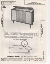 1965 DELMONICO 4TR-60 330 317 RADIO AMPLIFIER SERVICE MANUAL PHOTOFACT SCHEMATIC