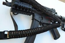 Tactical 550 Paracord Rifle Gun Sling Single Point Quick Detach BURNT SMORES