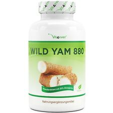 Wild Yam 240 Kapseln - 880 mg pro Tag - 20% Diosgenin - Keine Zusätze - Vegan