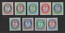 Norway 1991 Sg1098-1106 Definitive Posthorn Set Mint Mnh