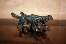 2 CHIENS Setter BRONZE DE VIENNE Plomb de nuremberg Cold Painted Dogs C1900