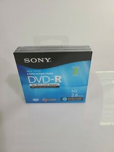 Sony Handycam 60 Min 2.8GB DVD-R 3-Pack Double Sided Discs New Factory Sealed