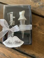 New listing Brand New In Box Bride And Groom Wine Bottle Stoppers By Fashioncraft