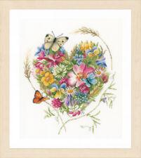 Coeur de fleurs (Evenweave): Lanarte Counted Cross Stitch Kit-PN0169960