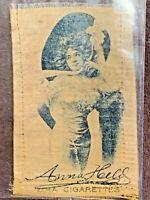 Vintage c1914 Actress Anna Held Zira Cigarettes Tobacco Silk Card