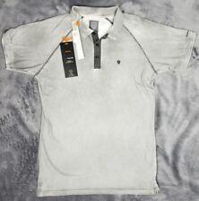 883 Police Koko Shirt Polo Black Olive Short Sleeve Shirt  NWT Size 3 Men's