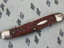 Vintage Solignen Germany Pocketknife 2 Blade Pocket Knife Carved Handle