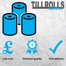 100 Rolls - 57 x 40 mm Thermal Till Rolls PDQ CREDIT CARD - FREE DELIVERY