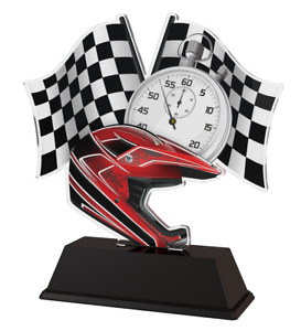 MOTOCROSS MX TROPHY CUT TO SHAPE ACRYLIC *FREE ENGRAVING* 100mm - 4 SIZES!