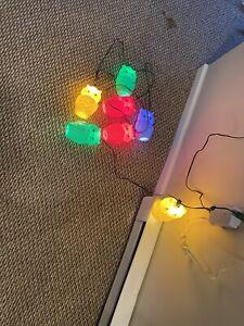 Vintage Owl-Lites String Lights Retro Lantern Patio RV Camper Blow Mold Owls