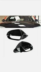 Pour AUDI A6 C7 4G RS6 A6 Allroad Rétroviseur Extérieur Coque Capuchon Noir G+D