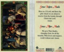 Prayer Cards on eBay - Grace Before and After Meals Giving Thanks - HC9-339E