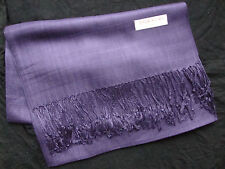 NEW Pashmina Fall Spring Scarf Scarves Silk Blue Violet Solid Shawl Wrap Range