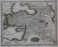 Original 1834 Map TURKEY IN ASIA Constantinople Aleppo Damascus Israel Palestine