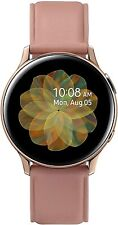 Samsung Galaxy Watch Active 2 SM-R835 40mm Gold-Tone Stainless Steel Case with Pink Leather Strap Smartwatch (LTE)