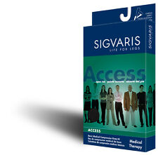 Sigvaris 973C Access 30-40 mmHg OPEN Toe Calf High Compression Socks BEIGE SS