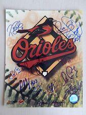 "Baltimore Orioles Logo Autographed 8"" X 10"" Photograph with 12 Autographs"
