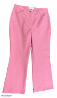 Woman's ESCADA Light Pink Cotton Blend Jeans Bootcut Pants Bottoms Size 44 ~32in