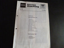 ORIGINALI service manual Grundig CN 510