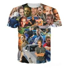 3D Print Paul Walker Paparazzi Women Men Casual T-Shirt Short Sleeve Tee Tops