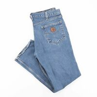 Vintage CARHARTT Blue Relaxed Straight Fit Men's Worker Jeans W34 L32