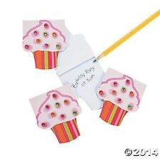 12 Cupcake Gems Food NotePads Memo Notebooks Kids Birthday Party Favors Gifts