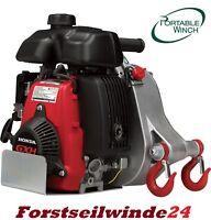 Forstseilwinde, Spillwinde PCW 5000 Benzinwinde,Motorwinde,tragbar + 100 m Seil