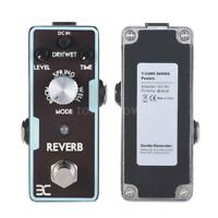 ENO Guitar Effect Pedal Black Reverb from Spring, Hall, Echo to Space sound F8O0