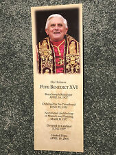 POPE BENEDICT XVI Joseph Ratzinger Photo COLLECTIBLE BOOKMARK Religion VINTAGE