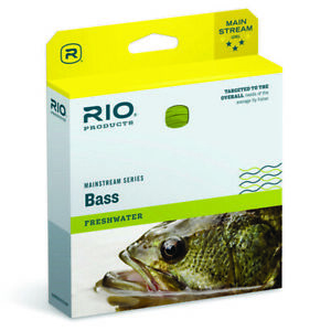 Rio Mainstream Bass Fly Line Yellow - ALL SIZES - ON SALE NOW - FREE SHIPPING
