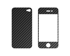 Carbon Funda para Iphone 4 Frontal + Placa trasera #489