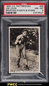 1935 Pattreiouex Sporting Events & Stars Boxing Joe Louis ROOKIE RC #56 PSA 8