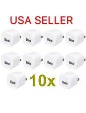 10 x 1A Usb Home Wall Charger Ac Adapter Plug For Phone Plus Samsung Lg