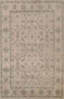 6'x9' Wool/ Silk Geometric Indian Oriental Area Rug Hand-knotted Classic Carpet